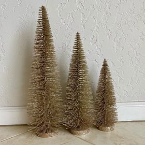 Gold Trees (set of 3)
